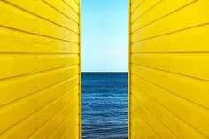 2 Yellow Beach Huts
