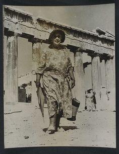 Agatha Christie visits the Acropolis, 1958