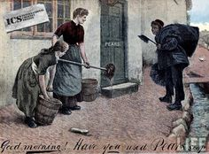 Old Pears Soap advert with chimney sweep. Corny but nice.