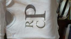 Monogram onesie