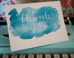 Watercolor thank you card, $7.00