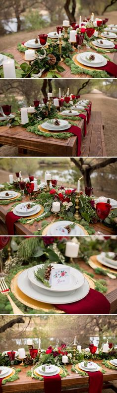 Rustic Winter Wedding Table | A Princess Inspired Blog | Woodland Inspired Wedding | Rachel Baker Photography