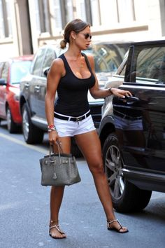 love just simple white shorts