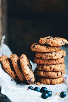 GF Almond Butter Blueberry Cookies // Green Kitchen Stories