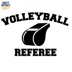 Volleyball Referee Text with Whistle Decal or Sticker for your car, window, laptop or any other flat surface.