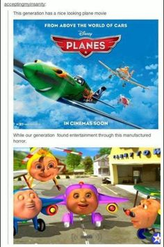 Jay Jay the Jet Plane and Thomas the Train scared the shiz out of me when I was younger. HATED them. http://ibeebz.com