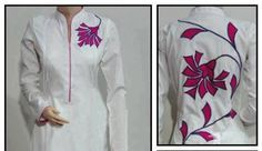 fabric painting designs on kurtis - Google Search