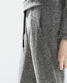 Detail: TWEED JOGGING PANTS from Zara