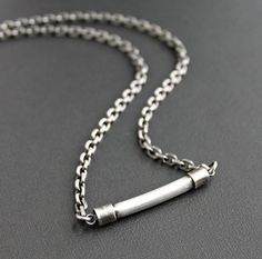 89 best mens silver necklaces images on pinterest mens silver bar chain necklace mens sterling silver necklace mens silver chain aloadofball Images