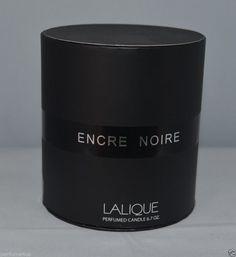 LALIQUE ENCRE NOIRE PERFUMED CANDLE  6.7 oz 190G GLASS JAR NEW SEALED #LALIQUE