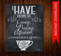 Printable Chalkboard Art, INSTANT DOWNLOAD, Chalkboard art, Coffee Lover Gift, Foodie Gift, Chalkboard Kitchen Art, Chalkboard Art