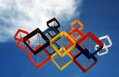 This is 9 Box Kites flown as one!