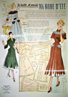 Crochet Vintage, Vintage Diy, Mode Vintage, Vintage Ladies, Vintage Ideas, Vintage Wardrobe, Vintage Outfits, Vintage Fashion, Old Dresses