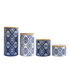 Pirouette Blue Canister Set by Jay Import #zulily #zulilyfinds