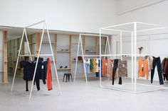 Showroom 8 is a minimalist interior located in Toulouse, France, designed by A+B. Showroom 8 is a place for the pre- sentation of new clothing. Subjected to intense activity as well as seaso- nal rhythms, the place underwent many changes aspects and uses. We have opted not to fix the space by designing a system of objects and a partition system allowing its occupants to evolve and change it. Such as drawing tools, Angle Plates, Trestles and Skeleton allow both to present the clothes, draw…