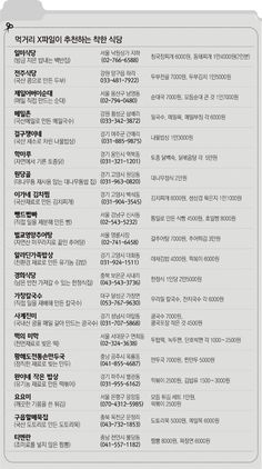 """""""여기가 착한식당"""" 먹거리 X파일 리스트 입수 : 방송/연예 : 뉴스 : 동아닷컴"""