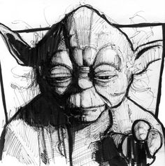 Yoda drawing by ~iandseniff via deviantART