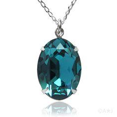 Swarovski crystal oval pendant. Love this color!