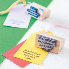 Personalised Rubber Address Stamp from notonthehighstreet.com