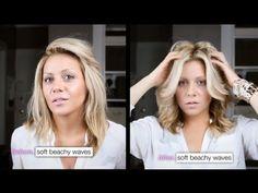 Victoria's Secret: Big soft Beach Waves on Medium Length Hair, tutorial
