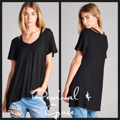 Aqua colored slight V-neck, cutout, short sleeve top. Super cute! Ready for Spring/ Summer    Material 95 Rayon/ 5 Spandex    Available Sizes: Small (0/5), Medium (6-9), Large (10-13)    Looser fit top. May want to size down depending on desired fit.    FAST, FREE SHIPPING IN THE USA!   Shop this product here: spree.to/bnn6   Shop all of our products at http://spreesy.com/artbystefannchapman      Pinterest selling powered by Spreesy.com