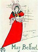 Cartaz, May Belfort,1895 de Henri Toulouse