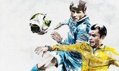Ilustrações para pôsters do FC Zenit, em divulgação institucional. by Florian Nicolle
