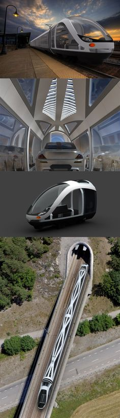 The futuristic Auto Train #futuristictechnologytechgadgets