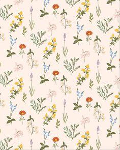 Bright floral pattern by Alja Horvat #textiledesign #surfacedesigner