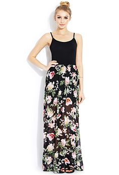 Long Floral Maxi Skirt Black Dress it up or down! Zips & top button in back. See & last photos for style ideas. Would look amazing with boots too! Waist 1 My Michelle Skirts Maxi Floral Chiffon Maxi Dress, Sheer Chiffon, Maxi Dresses, Slip Dresses, Print Chiffon, Chiffon Skirt, Maxi Skirts, Boho Fashion, Fashion Beauty