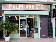 Miami-inspired design at new Hackney cafe, Palm Vaults.