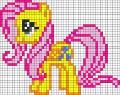 Kandi Patterns for Kandi Cuffs - Characters Pony Bead Patterns Pony Bead Patterns, Kandi Patterns, Pearler Bead Patterns, Perler Patterns, Beading Patterns, Cross Stitch Patterns, Pixel Crochet, Crochet Chart, Little Poney
