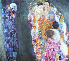 Gustav Klimt Death and Life Canvas Print