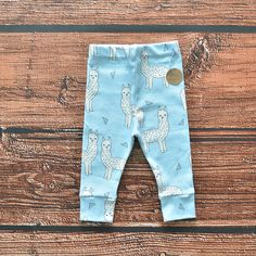 "They are so cozy and soft, made with organic cotton knit. Every seam is professionally serged for long lasting wear and durability. We love handmade leggings. Click ""Buy"" To get these now! Sewing Projects For Kids, Sewing For Kids, Cute Leggings, Sewing For Beginners, Learn To Sew, Clothing Items, Future Baby, Kids Wear, New Outfits"