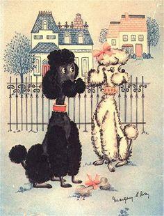 1950s Poodle Art