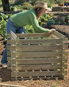 How to make a compost bin | DIY woodworking projects | Pinterest ...