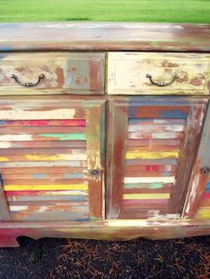 Charmant Country Multi Color Shutter Door Buffet By Dusty Charm Furniture U0026 Decor