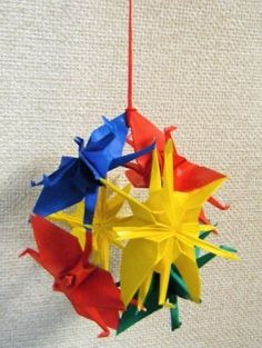 """Kusudama of crane (1)"""