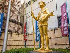 Golden Kappa statue, Kappabashi, Tokyo.