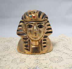 Vintage King Tut Tutankhamun Whiskey Decanter Michter's Pot Still Sour Mash Whiskey Miniature Advertising Advertisement by KansasKardsStudio on Etsy