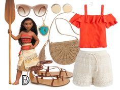 DisneyBound is meant to be inspiration for you to pull together your own outfits which work for your body and wallet whether from your closet or local mall. As to Disney artwork/properties: ©Disney Disney Bound Outfits Casual, Moana Outfits, Cute Disney Outfits, Disney World Outfits, Disney Themed Outfits, Disney Dresses, Cute Outfits, Princess Inspired Outfits, Disney Princess Outfits