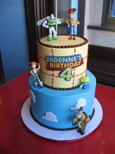 AWESOME Toy Story cake #cakes Toy Story Birthday Cake, 3rd Birthday, Birthday Cakes, Birthday Ideas, Toy Story Theme, Toy Story Party, Batman Cupcakes, 18th Cake, Toy Story Cakes