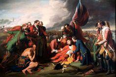La mort du général Wolfe, 1771, Benjamin West,  Musée des beaux-arts du Canada, Ottawa.