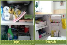 - El mueble del fregadero antes y después