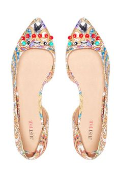 Angelique Shoes in Red Multi - Get great deals at JustFab