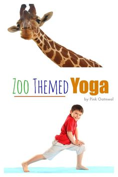 Zoo Yoga Ideas.  I love all the different pose ideas for things you see at the zoo! - Pink Oatmeal The Zoo, Gross Motor Activities, Movement Activities, Zoo Preschool, Preschool Activities, Yoga For Kids, Exercise For Kids, Ec 3, Dear Zoo