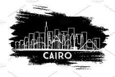 #Cairo #Egypt #City #Skyline #Silhouette. by Igor Sorokin on @creativemarket