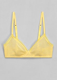 Bras - Lingerie - & Other Stories Cute Bras, Pretty Lingerie, Beautiful Lingerie, Bra Lingerie, Lingerie Models, Bra Pattern, Soft Bra, Layering Outfits, Mellow Yellow