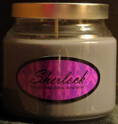 Sherlock scented candle. Weird but I really want one.