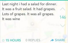 And this healthy diet:   24 Pictures That Perfectly Sum Up Your Twenties